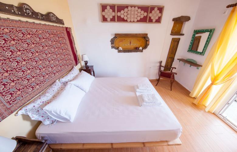 Castria Studios ochre studio bedroom